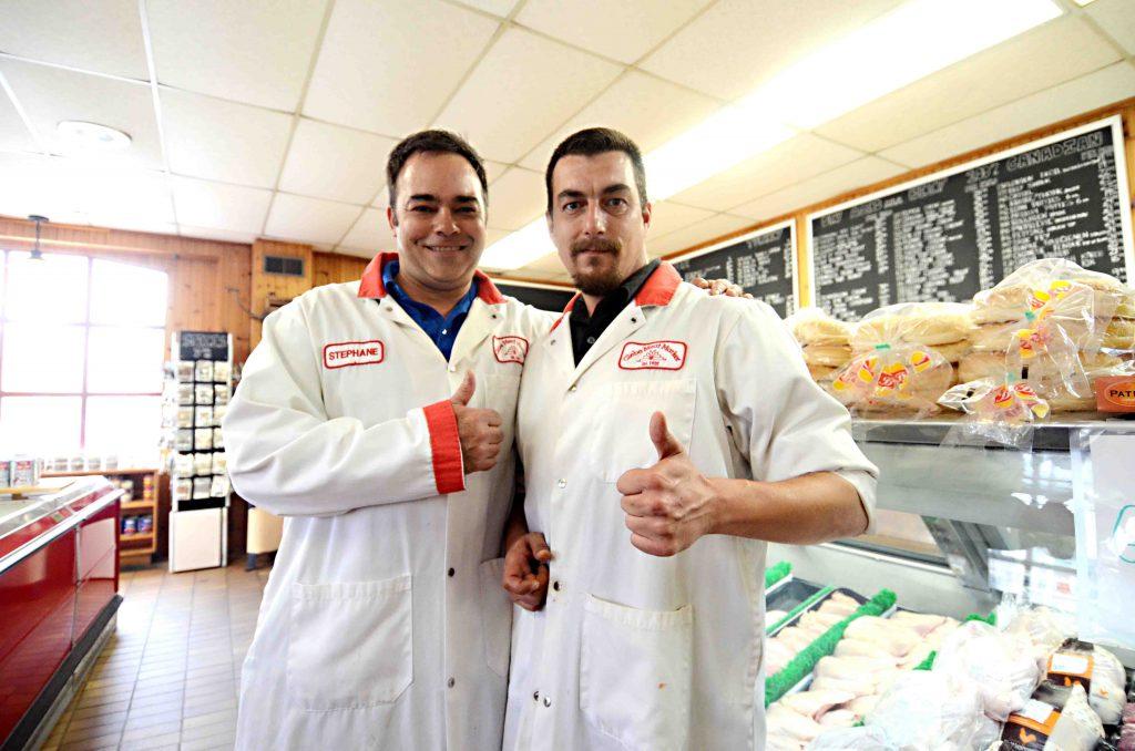 John Veltri (left) and Glebe Meat Market owner Stephane Sauve.