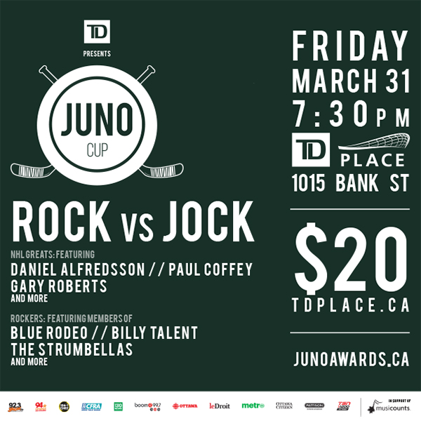 Music stars face off against NHLers at JUNO Cup in the Glebe