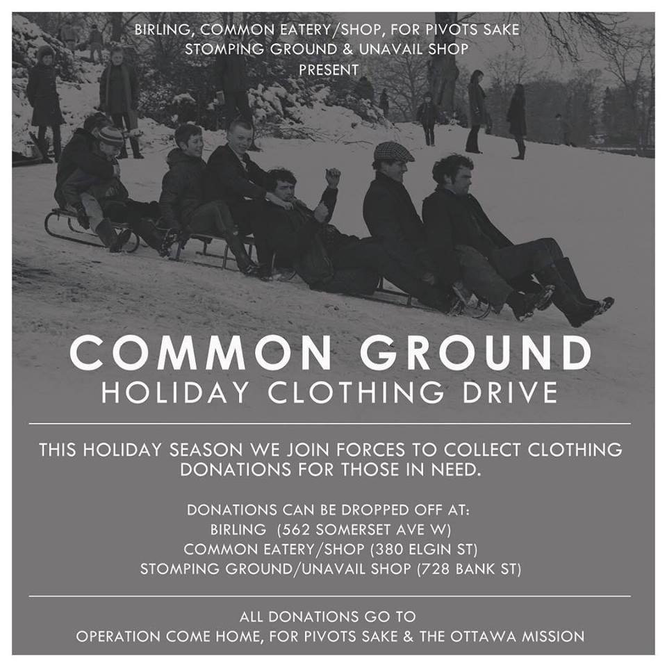 Common Ground Holiday Clothing Drive