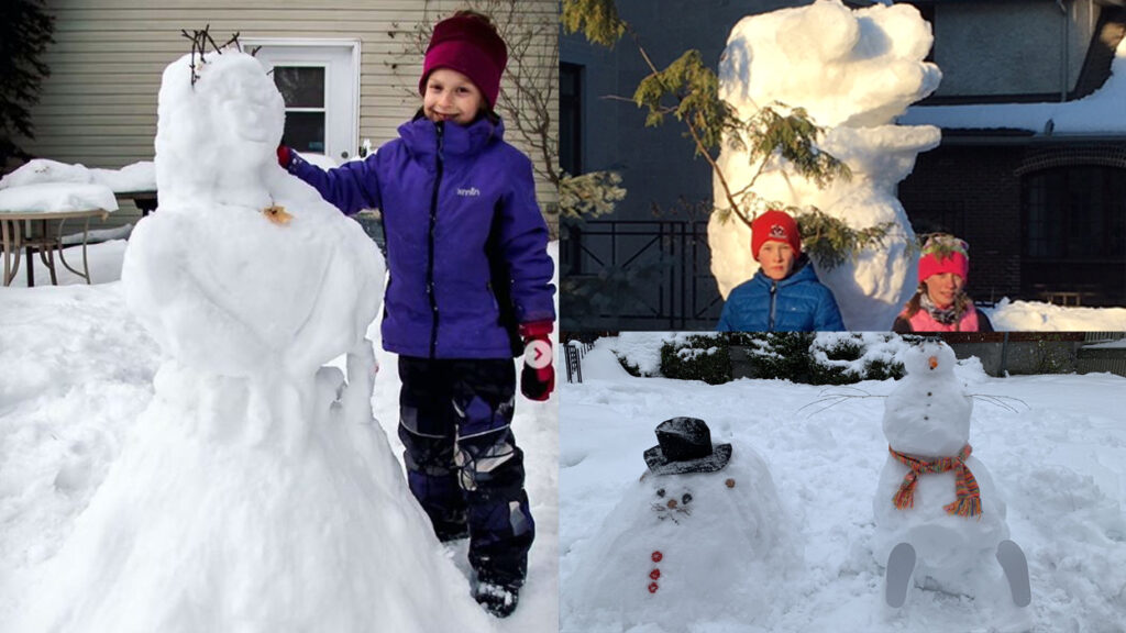 Maya Devlen's winning Snow Princess (Left) and last year's runners up.