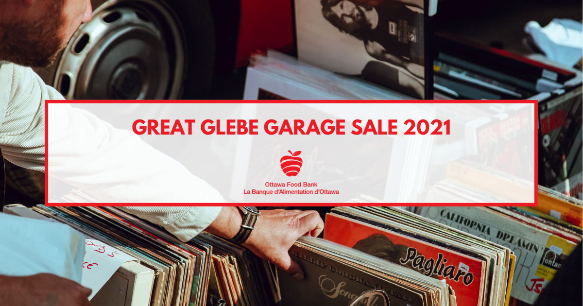 The Virtual Great Glebe Garage Sale is Back! Support for the Food Bank